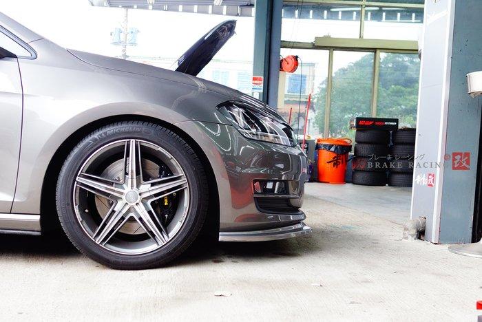 VW Golf7 MK7 專用 AP CP-9200/CP-5200 四活塞搭配330mm單片碟盤組 / 制動改