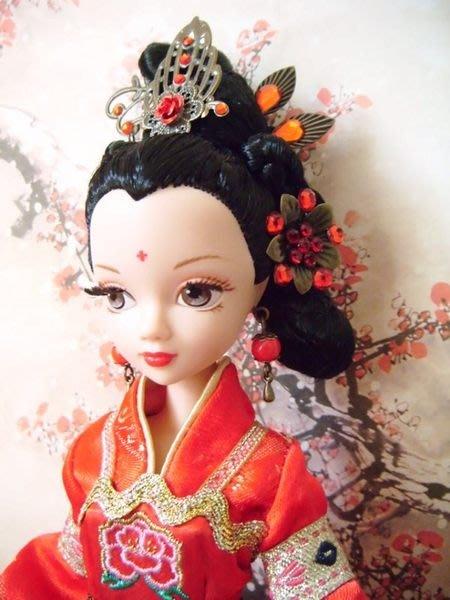 愛卡的玩具屋 純手工打造(水鑽額飾,珍珠流蘇,髮簪) 芭比;可兒;莉卡 可用 -如月