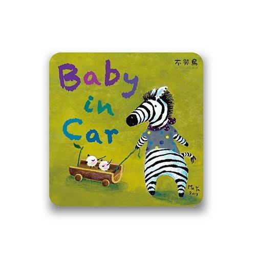 防水 貼紙*斑馬-Baby in Car*不哭鳥