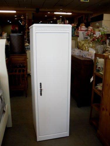 美生活館--客訂 威德 象牙白色單門櫃/收納櫃--可修尺寸/顏色