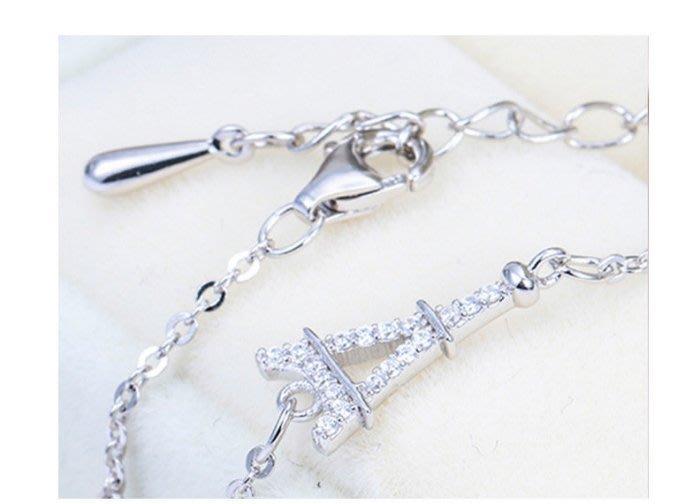 【黛恩珠寶 DIAN JEWELRY】歐美時尚設計師CZ鑽輕珠寶款925純銀手鍊 流行 珠寶鑽石紅寶翡翠網路最低價超低價