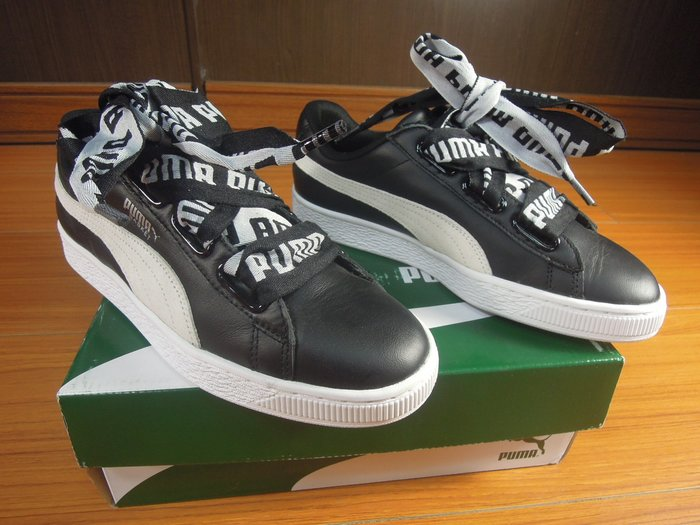 假鞋賠10萬Puma Basket Heart DE W Black 黑 364082-01