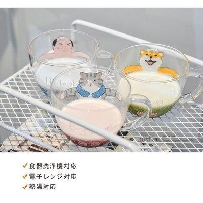 《AsFun》日本zakka風 柴犬 大叔 貓咪 耐熱玻璃杯 水杯 牛奶杯子 早餐杯 情侶杯 文青咖啡杯可微波北歐