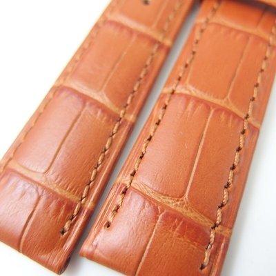 錶帶屋 如真鱷魚皮紋義大利 22mm ...