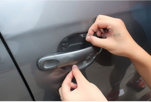 YP逸品小舖 汽車門把內腕貼膜 保護膜 防指甲刮傷 通用型 4入裝 強耐磨 抗高溫 去除不留痕
