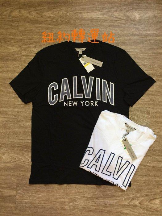 紐約轉運站 : 美國購買 現貨在台  CK Calvin Klein Jeans 男生棉質燙字、 印刷LOGO 圓領短T