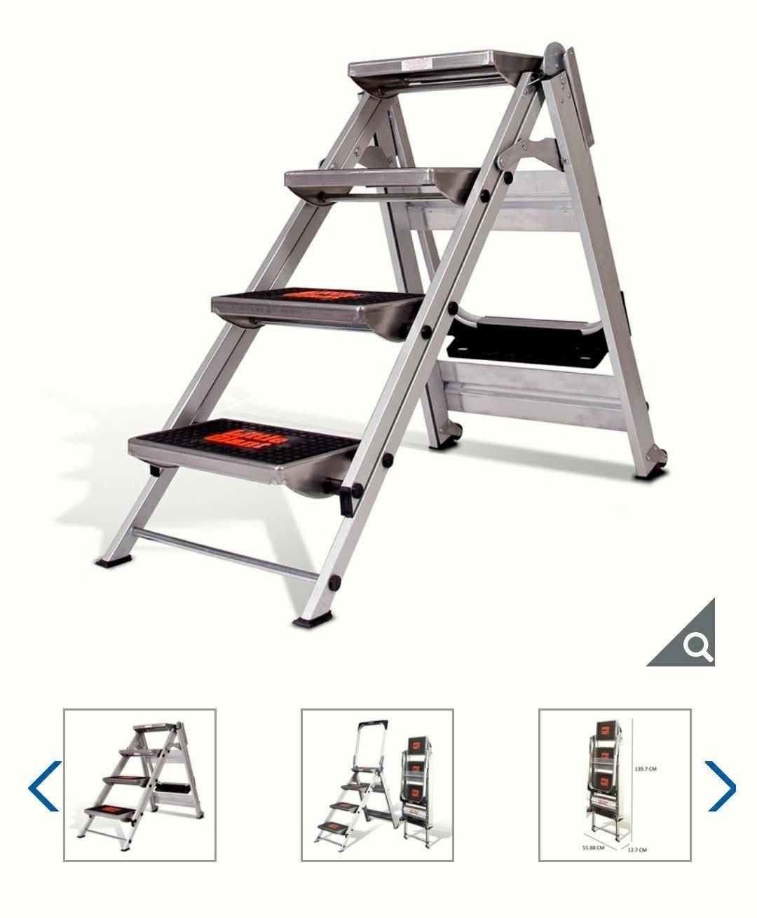 【多娜代購】Little Giant 多功能 四階鋁梯/四步階梯設計附有把手,更加安全/好市多代購/含運4950元