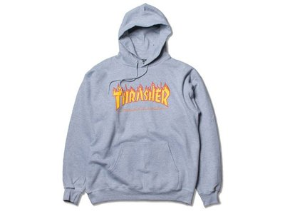 【HOPES】THRASHER FLAME HOOD-GREY