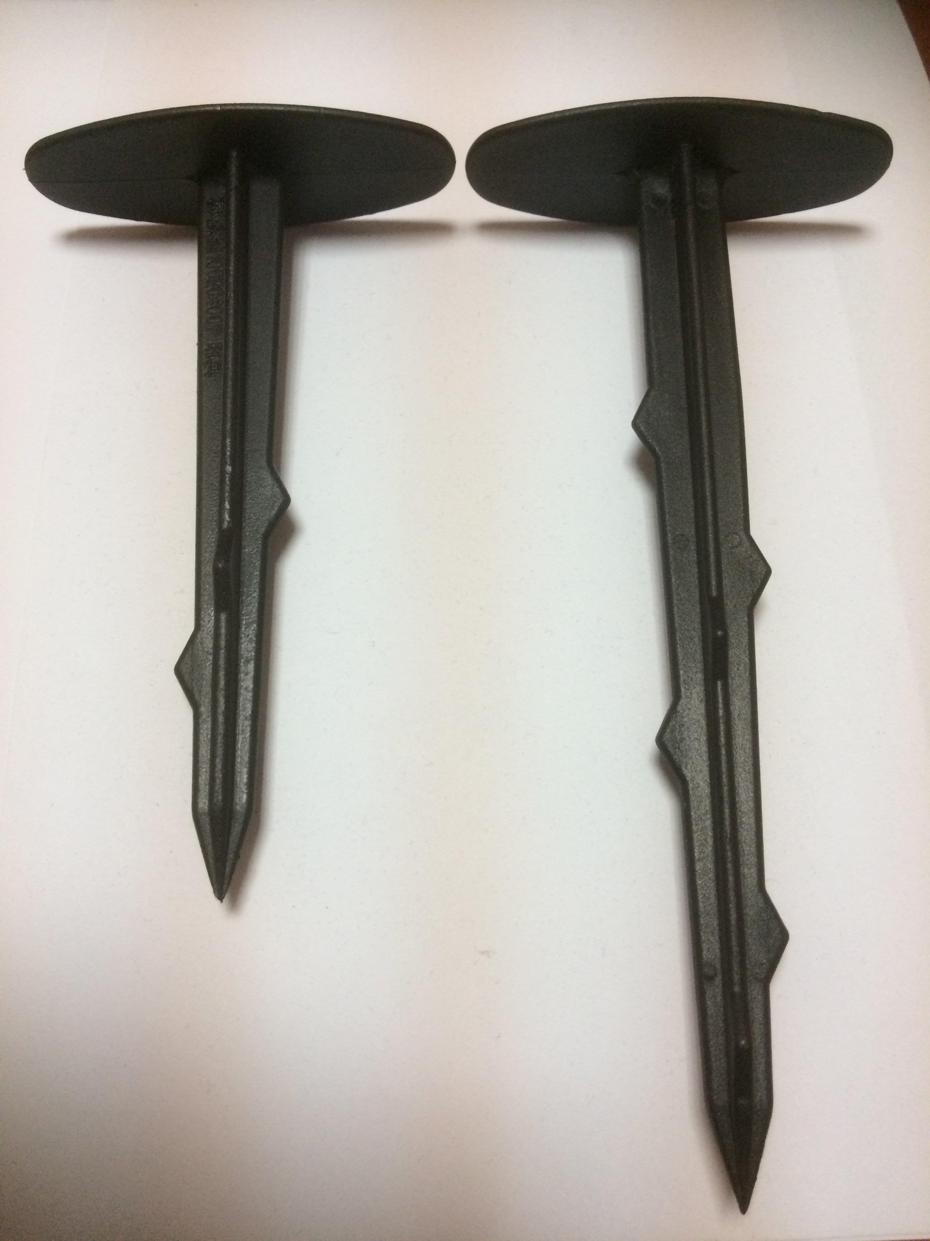 塑膠釘,雜草抑制蓆固定釘、21公分塑膠釘100支300元