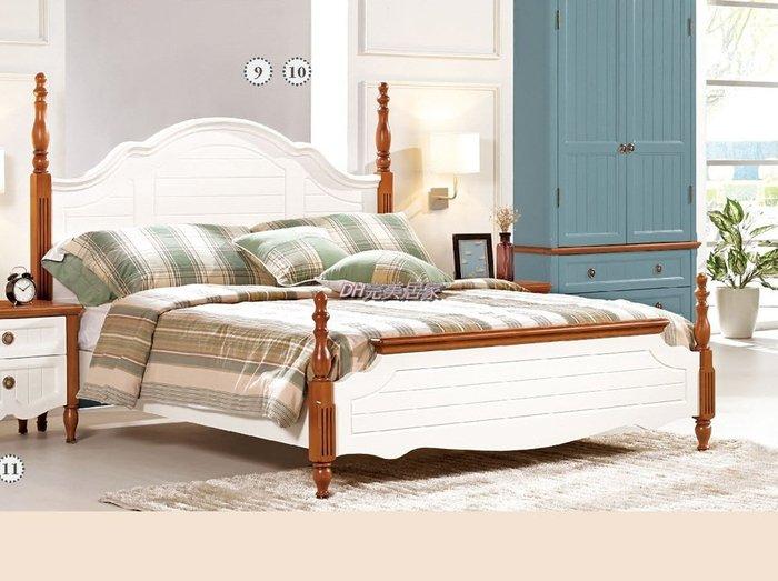 【DH】商品貨號G521-10商品名稱《蘭克》5尺雙人床架(圖一)備有6尺/另計。法式歐風/優質經典。主要地區免運費