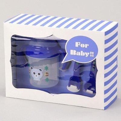 尼德斯Nydus~* 嚴選日本製 嬰兒/Baby用品 餐具組 吸管杯 湯匙 叉子 小熊/小貓 共2款