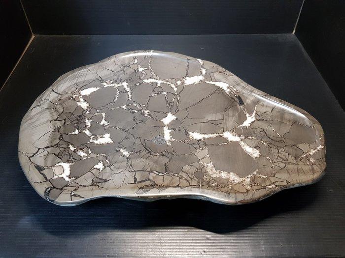 石在有趣~新石器時代/40公分龜甲石茶盤