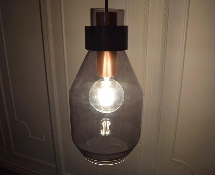 煙灰色長酒瓶造型吊燈-BNL00123