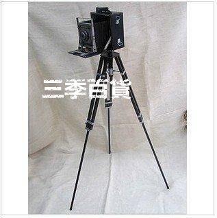 三季影樓道具1947年復古照相機 模型 鐵皮 攝影拍攝道具 1.2米支架相機婚紗攝影道具❖613