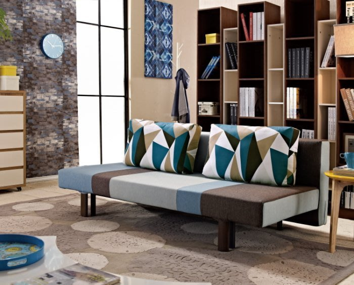 【DH】商品貨號G726-1商品名稱《 斯倫勞》沙發床。座椅 /臥室床兩用使用/可拆洗。主要地區免運費