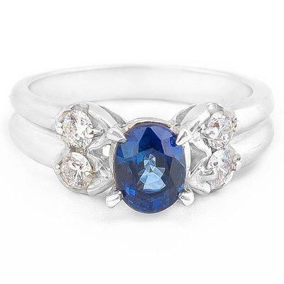 【JHT 金宏總珠寶/GIA鑽石專賣】1.08ct天然藍寶造型鑽戒/材質14K(S00018)