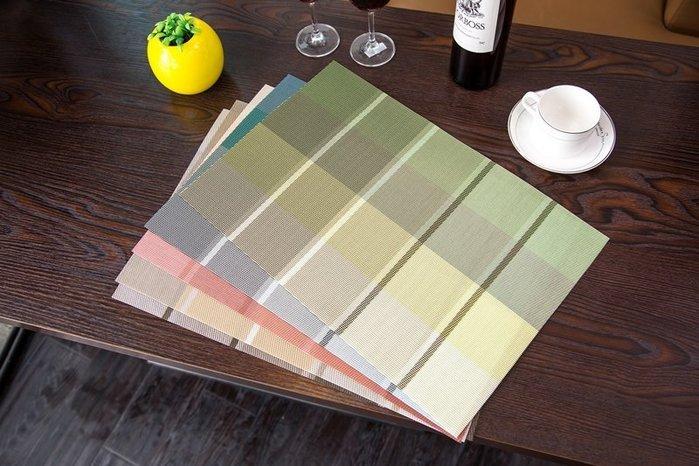 *菊色雛窗*多款手工編織/歐式餐墊/pvc質感餐墊/日式/隔熱墊/美觀大方/低調華麗/漸層條紋桌墊