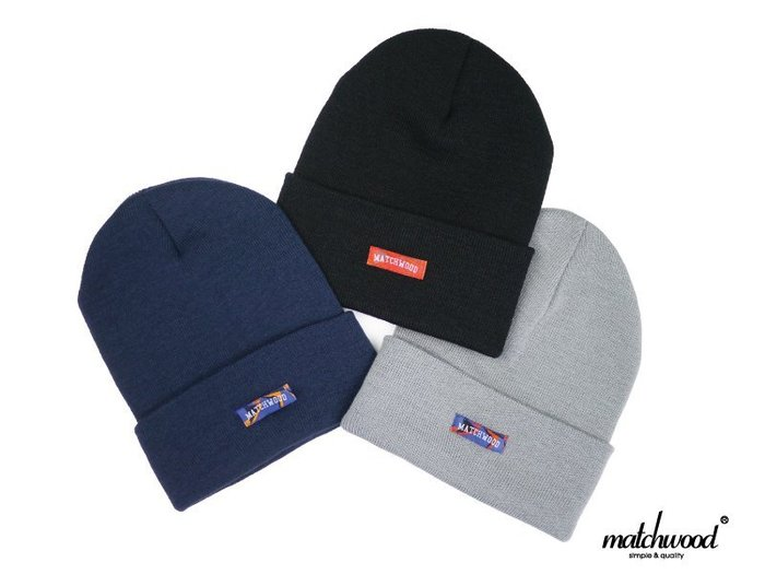 ~ POISON ~ MATCHWOOD COLLEGE LOGO BEANIE 毛帽針織