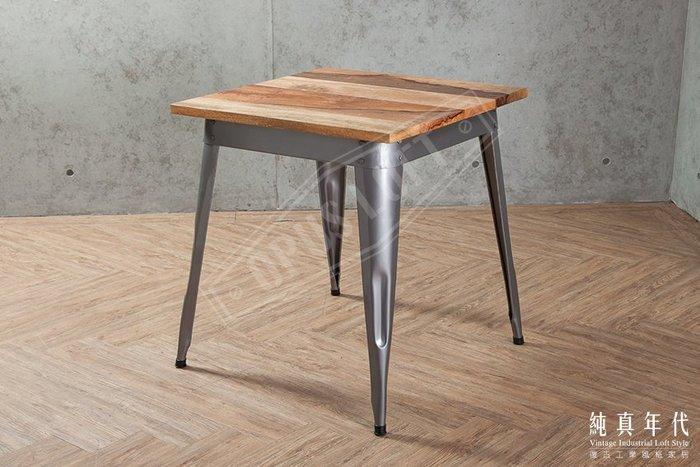 【OPUS LOFT】CO-14 復古工業風 原木 鐵腳 小餐桌