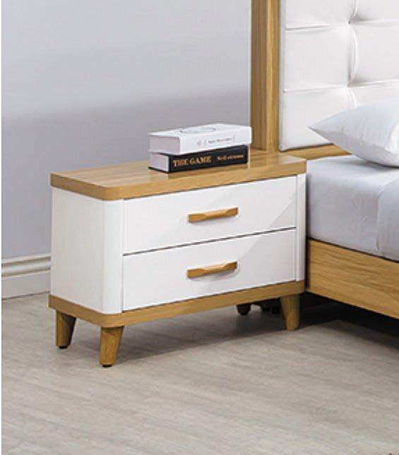 【DH】商品貨號E589-5商品名稱《寶格麗》雙色.雙抽.床頭櫃(圖一)木心板.台灣製可訂做.主要地區免運費