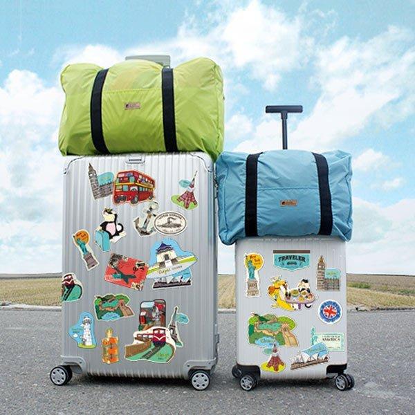 行李箱貼紙 ( 防水裝飾大貼紙 ST-30039-Part.1 ) DIY自己的風格 i-HOME愛雜貨