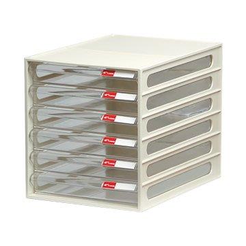 【樹德SHUTER】桌上效率櫃6抽屜/A4文件櫃/置物櫃/資料櫃/收納櫃DD-106P
