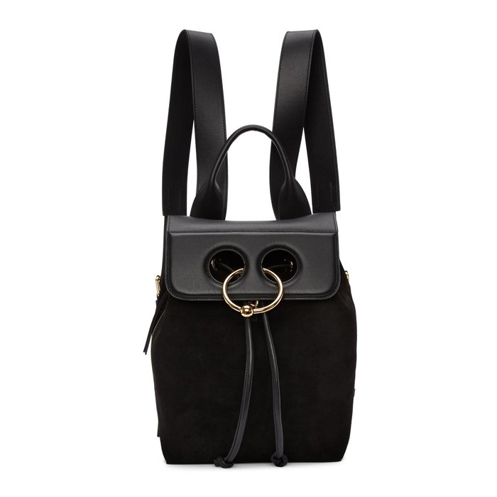 [全新真品代購-S/S18 SALE!] J.W. Anderson mini Pierce 皮革/麂皮 後背包