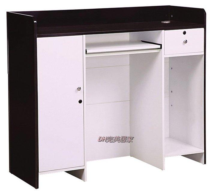 【DH】商品貨號N900-3商品名稱 《盧堡》四尺黑/白色多功能桌,可作收銀檯,接待櫃台,代客泊車接待櫃。主要地區免運費