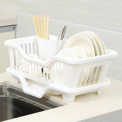 日韓流行家居~~ 滴水碗盤收納架/餐具架/ 碗盤架 可直接將聚集的水份滴入水曹中
