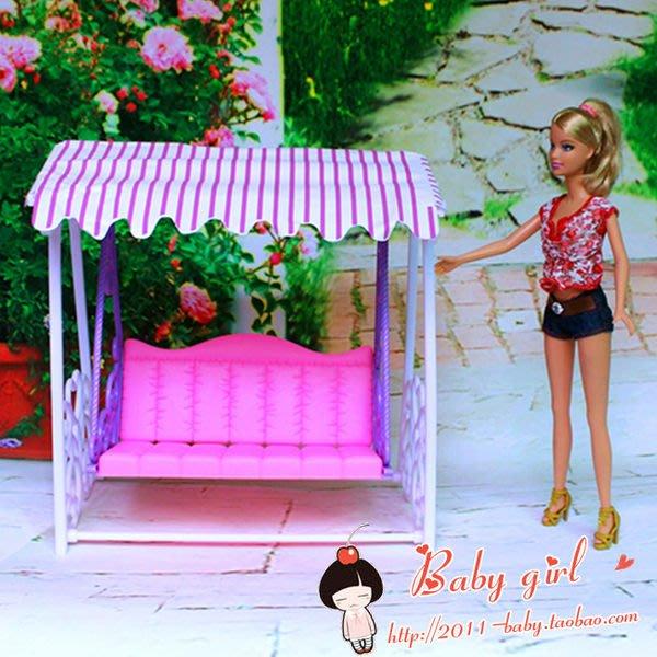 愛卡的玩具屋 芭比娃娃家具專賣店 雙人搖籃 雙人鞦韆 雙人吊籃搖椅 庭園搖籃鞦韆98016