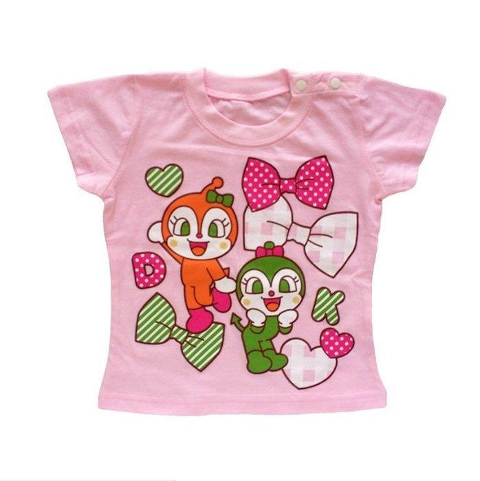 《琉璃的雜貨小舖》日本 麵包超人 女童純棉T恤 現貨