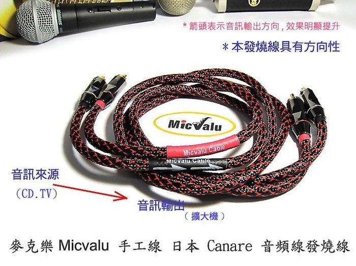 手工線 日本 Canare 音頻線 發燒線 0.5公尺 RCA公*2/RCA公*2 AV轉AV立體聲  蓮花 否則退費avav