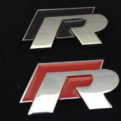 VW GOLF 高質感車標 R貼標 R...