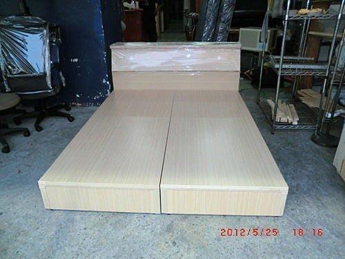 樂居二手家具館 全新中古傢俱賣場 B586 全新白橡木5尺雙人床組 床架 床箱含床頭 另有胡桃木床底床板