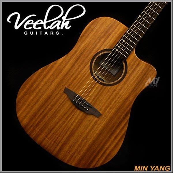 【民揚樂器】『免運優惠』民謠吉他 Veelah V1-DMCE 面單 含EQ 附原廠琴袋『公司貨附發票』
