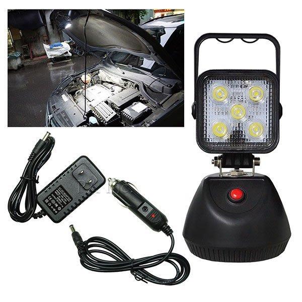 【PA LED】15W LED 車充 變壓器 充電式 手提燈 工作燈 露營燈 車輛維修 釣魚 戶外照明 三段可調模式