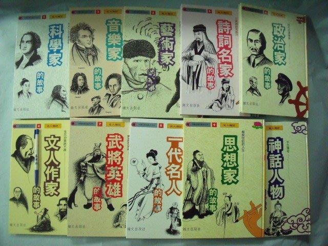 【姜軍府童書館】《中國兒童知識大百科 (全套) 10本合售!》1994年 鐘文出版社 名人傳記音樂家藝術家英雄科學