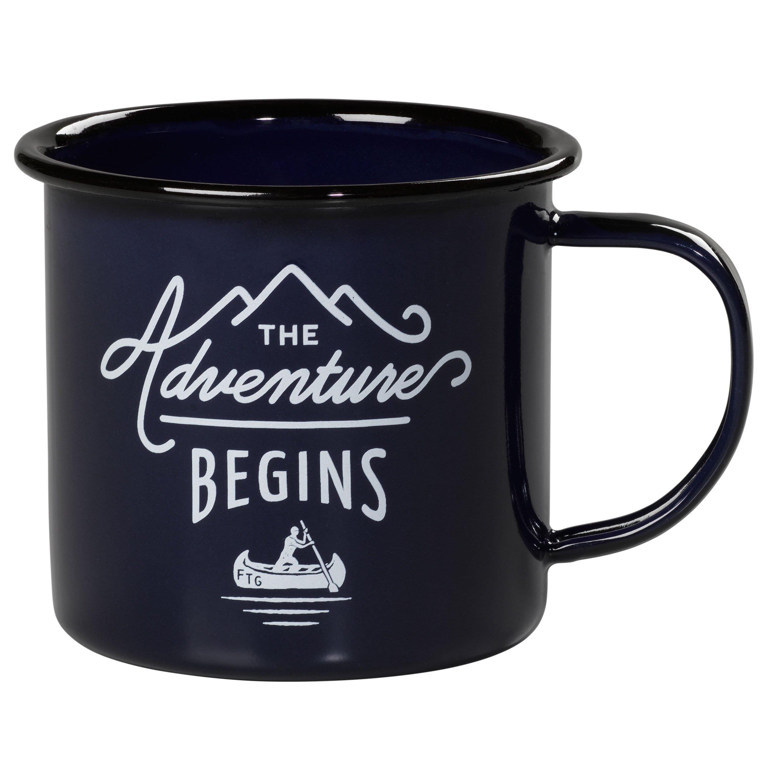 【英國 Wild & Wolf】深藍色 經典復古琺瑯杯 360ml 探險琺瑯馬克杯 琺瑯單耳杯 露營杯 咖啡杯 水杯茶杯