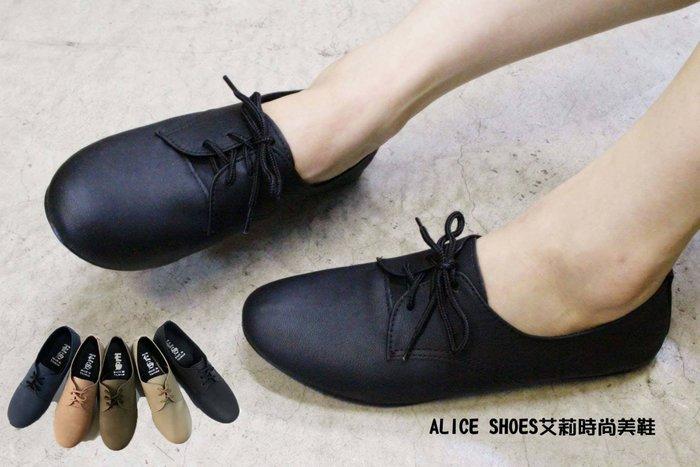 ALICE SHOES艾莉易購網 請把握!!搶鮮擁有綁帶素面牛津鞋.平底娃娃鞋@891@MIT台灣製造