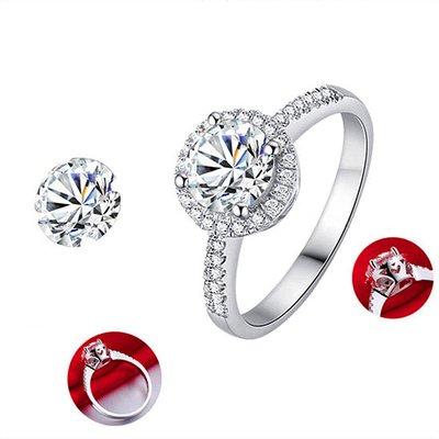 結婚鑽戒第一名頂級仿真鑽石媲美真鑽肉眼難辨戒指1克拉主鑽圍碎鑽極光高碳鑽石十心十箭真鑽鉑金質感特價定制大牌莫桑鑽ZB鑽寶