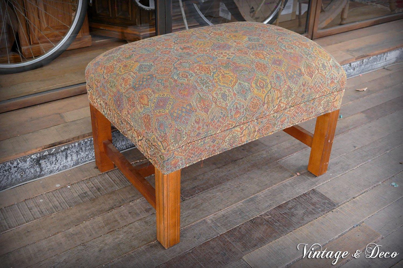 美國古董La-Z-Boy木製小矮凳沙發 復古凳子 老凳子 [CHAIR-0100] 復古家具 二手凳子 古董傢俱 租借