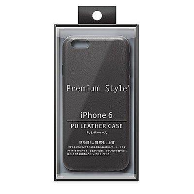 尼德斯Nydus~* 日本正版 PGA 皮革質感 皮套 手機殼 保護殼 孔位精準 iPhone6 4.7吋 黑色