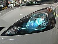 翔宸自動車照明設計 雙光源變光一秒切換鹵素 客製化魚眼 HID LED 光圈 鋼鐵極光魚眼 流水日行燈