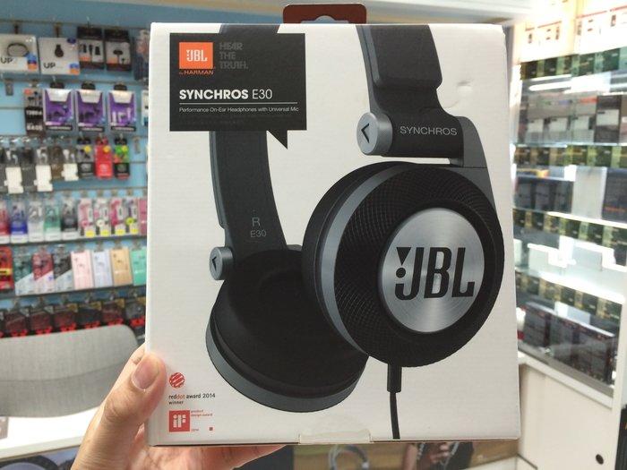 禾豐音響 美國 JBL Synchros E30 可通話耳罩耳機 黑色 貨 1年 另 J5