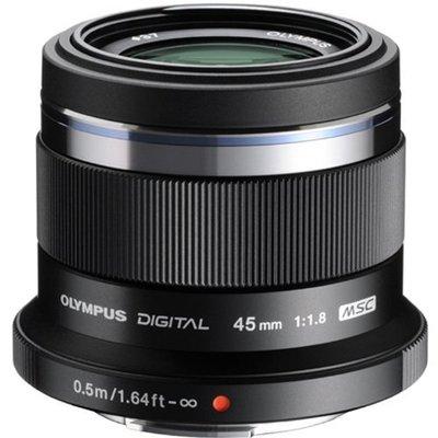 【高雄四海】Olympus M.Zuiko Digital ED 45mm F1.8定焦人像鏡頭.全新平輸保固一年.黑銀
