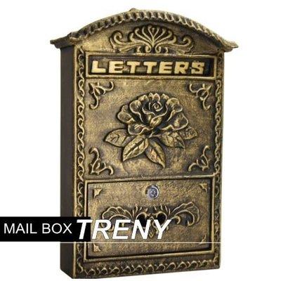 【TRENY直營】自然風情-花開富貴鑄鐵信箱 鑄鐵信箱 信件箱 意見箱 郵件 信件 7534