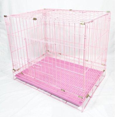 【優比寵物】2尺雙門(美式門栓)《粉紅...