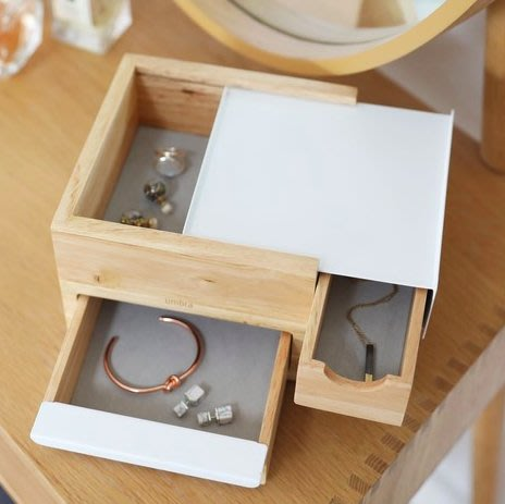 [SECOND LOOK]加拿大雜貨 木頭製 多抽屜 精緻 珠寶盒