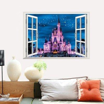 城堡 3D立體壁貼 可重覆黏貼 貼紙 ...