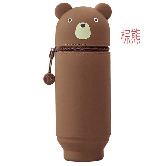 可愛又療癒文具創作小物:日本知名 LIHIT 公司出品之動物型,安全好用大型直立式筆筒。都有現貨。